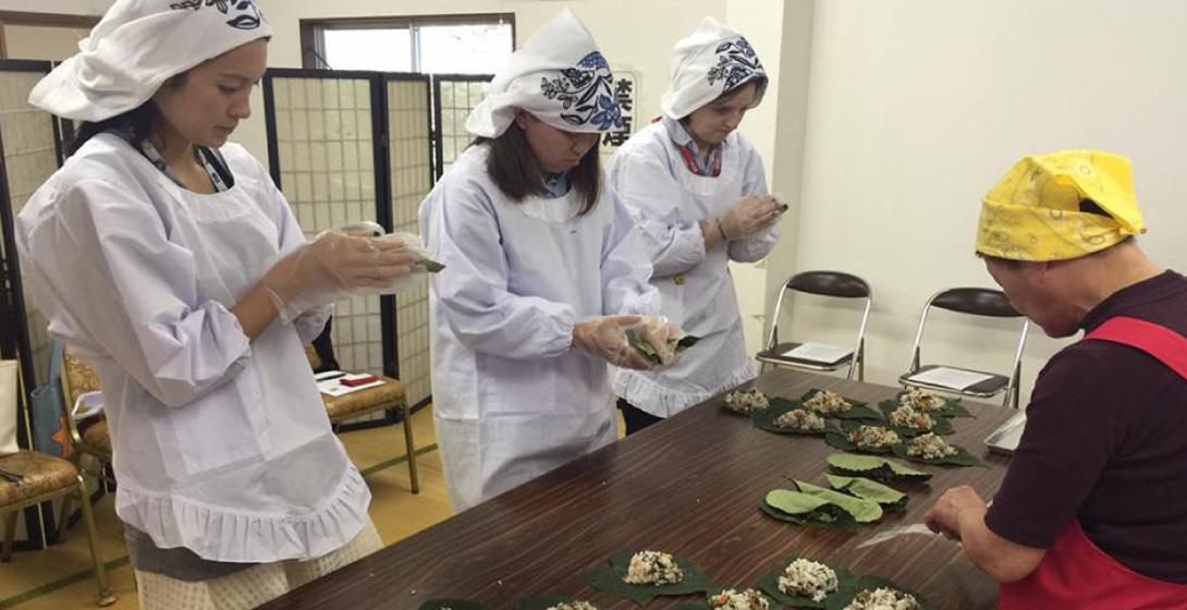 Kajika-no-Satoyama Denga: Leaf-wrapped Sushi and Gojiru Soup Making Experience